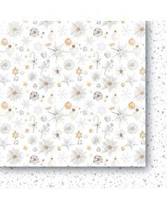 Dvostranski papir - White as snow 02 - 30,5x30,5cm -250g
