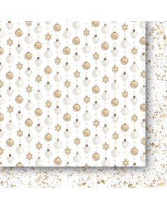 Dvostranski papir - White as snow 03 - 30,5x30,5cm -250g