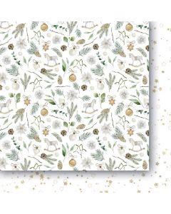 Dvostranski papir - White as snow 04 - 30,5x30,5cm -250g