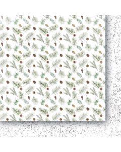 Dvostranski papir - White as snow 05 - 30,5x30,5cm -250g
