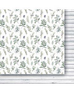 Dvostranski papir - White as snow 06 - 30,5x30,5cm -250g