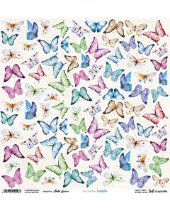 Enostranski papir - Butterflys - 30,5x30,5cm - 250g