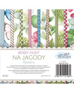 Set dvostranskih papirjev - Berry hunt - FLOWERS - 15x15cm - 24 listov - 200g