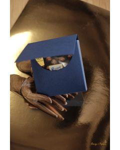 Osnova škatlice za mini čokolado - 10x10x1,8cm - modra - 300g - Rzeczy