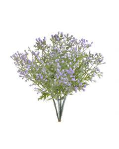 Dekoracija - zelenje - vijola popki - 3 kos