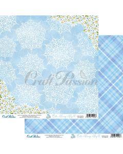 Dvostranski papir - Cute Bunny Boy 02 - 30,5x30,5cm - 250g - Craft Passion