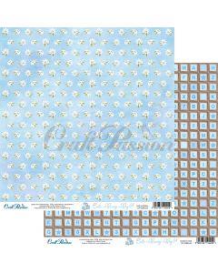Dvostranski papir - Cute Bunny Boy 04 - 30,5x30,5cm - 250g - Craft Passion
