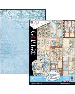 Set dvostranskih papirjev - Broccato Estense - creative pad - A4 - 9 listov - 190g