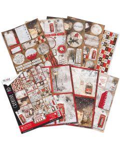 Set dvostranskih papirjev - SNOW AND THE CITY - creative pad - A4 - 9 listov - 190g