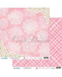 Dvostranski papir - Cute Bunny Girl 02 - 30,5x30,5cm - 250g - Craft Passion