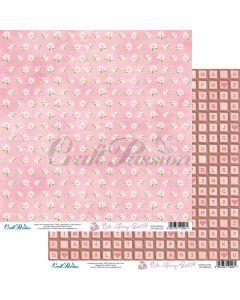 Dvostranski papir - Cute Bunny Girl 04 - 30,5x30,5cm - 250g - Craft Passion