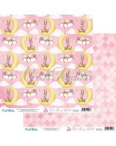 Dvostranski papir - Cute Bunny Girl 05 - 30,5x30,5cm - 250g - Craft Passion