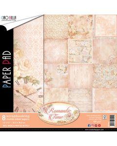 Set dvostranskih papirjev - Romantic Time - 30,5x30,5cm - 8 listov - 190g