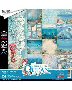 Set dvostranskih papirjev - Under the Ocean - 30,5x30,5cm - 12 listov - 190g