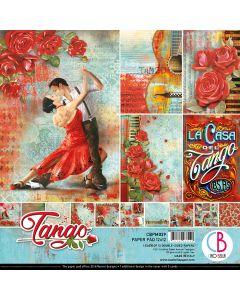 Set dvostranskih papirjev - Tango - 30,5x30,5cm - 12 listov - 190g