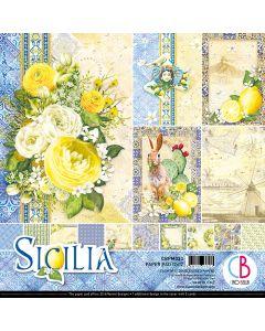 Set dvostranskih papirjev - Sicilia - 30,5x30,5cm - 12 listov - 190g