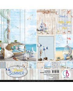 Set dvostranskih papirjev - Sound of Summer - 30,5x30,5cm - 12 listov - 190g