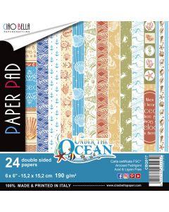 Set dvostranskih papirjev - Under the Ocean- 15x15cm - 24 listov - 190g