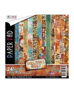 Set dvostranskih papirjev - Collateral Rust - 15x15cm - 24 listov - 190g