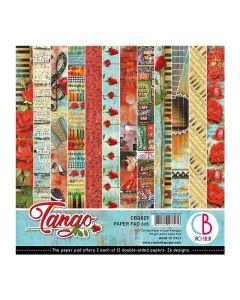 Set dvostranskih papirjev - Tango - 15x15cm - 24 listov - 190g