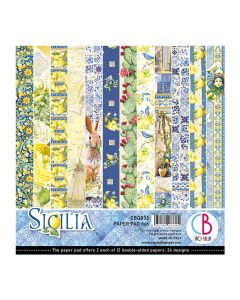 Set dvostranskih papirjev - Sicilia - 15x15cm - 24 listov - 190g
