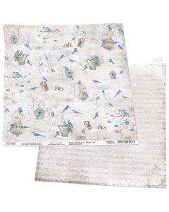 Dvostranski papir - BLUE JAY - 30,5x30,5cm - 190g