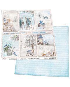 Dvostranski papir - WINTER CARDS - 30,5x30,5cm - 190g
