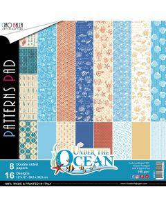 Set dvostranskih papirjev - Under the Ocean - vzorci - 30,5x30,5cm - 8 listov - 190g