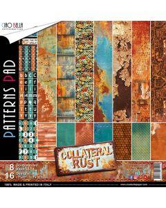 Set dvostranskih papirjev - Collateral Rust - vzorci - 30,5x30,5cm - 8 listov - 190g