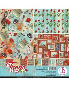 Set dvostranskih papirjev - Tango - vzorci - 30,5x30,5cm - 8 listov - 190g