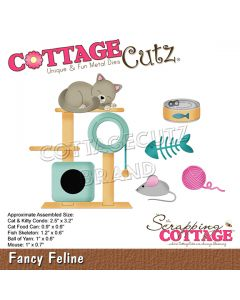 Rezalna šablona CottageCutz Fancy Feline