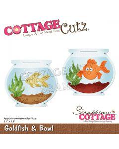 Rezalna šablona CottageCutz Goldfish & Bowl