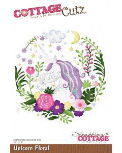 Rezalna šablona CottageCutz Unicorn Floral
