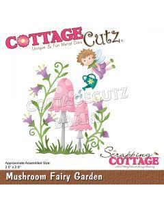 Rezalna šablona CottageCutz Mushroom Fairy Garden
