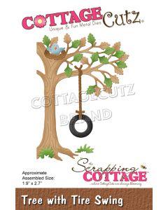 Rezalna šablona CottageCutz Tree With Tire Swing