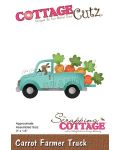 Rezalna šablona CottageCutz Carrot Farmer Truck