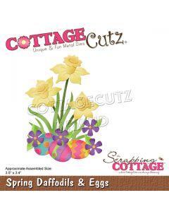 Rezalna šablona CottageCutz Spring Daffodils & Eggs