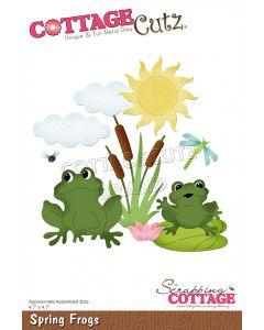 Rezalna šablona CottageCutz Spring Frogs