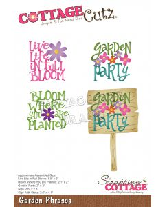 Rezalna šablona CottageCutz Garden Phrases