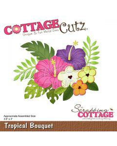 Rezalna šablona CottageCutz Tropical Bouquet