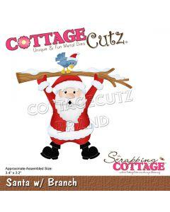 Rezalna šablona CottageCutz Santa w/ Branch