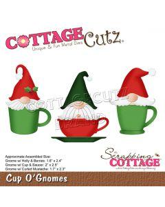 Rezalna šablona CottageCutz Cup O'Gnomes