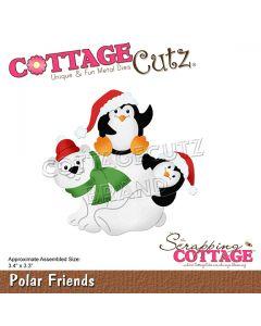 Rezalna šablona CottageCutz Polar Friends