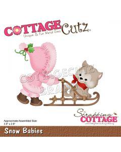 Rezalna šablona CottageCutz Snow Babies