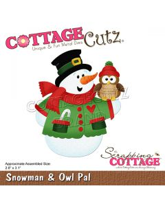 Rezalna šablona CottageCutz Snowman & Owl Pal