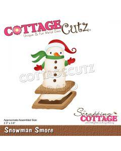 Rezalna šablona CottageCutz Snowman Smore