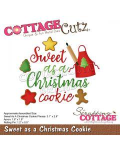 Rezalna šablona CottageCutz Sweet as a Christmas Cookie