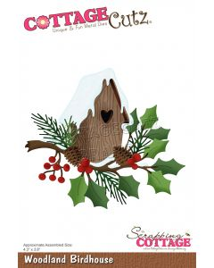 Rezalna šablona CottageCutz Woodland Birdhouse