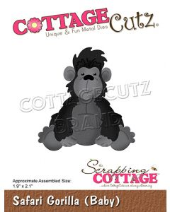 Rezalna šablona CottageCutz Safari Gorilla (Baby)