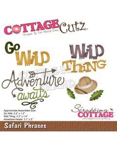 Rezalna šablona CottageCutz Safari Phrases